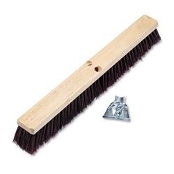 Boardwalk Floor Brush Head, 3 1/4 in Maroon Stiff Polypropylene, 24 in