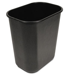 Boardwalk Soft-Sided Wastebasket, 28 qt, Black