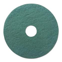 Boardwalk Heavy-Duty Scrubbing Floor Pads, 17 in Diameter, Green, 5/Carton