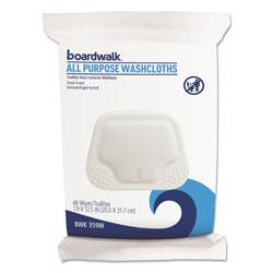 Boardwalk Premoistened Washcloths, 12 1/2 x 7 9/10, Fresh Scent, 48/Pack, 6 Packs/Carton
