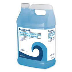 Boardwalk Industrial Strength Glass Cleaner with Ammonia, 1 Gal Bottle, 4/Carton