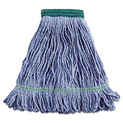 Boardwalk Super Loop Wet Mop Head, Cotton/Synthetic Fiber, 5 in Headband, Medium Size, Blue