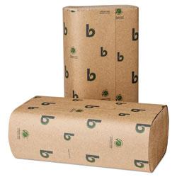 Boardwalk Boardwalk Green Multifold Towels, Natural, 9 1/8 x 9 1/2, 250/Pack, 16 Packs/CT