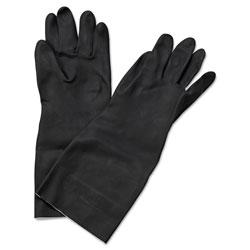 Boardwalk Neoprene Flock-Lined Gloves, Long-Sleeved, 12 in, Large, Black, Dozen