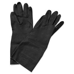 Boardwalk Neoprene Flock-Lined Gloves, Long-Sleeved, 12 in, Medium, Black, Dozen