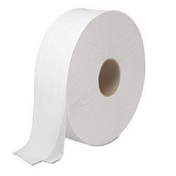 Boardwalk JRT Bath Tissue, Jumbo, Septic Safe, 2-Ply, White, 3.5 in x 2000 ft, 6 Rolls/Carton