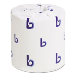 Boardwalk Bathroom Tissue, Standard, Septic Safe, 2-Ply, White, 4 x 3, 500 Sheets/Roll, 96/Carton