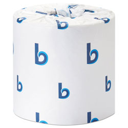 Boardwalk Office Packs Standard Bathroom Tissue, Septic Safe, 2-Ply, White, 350 Sheets/Roll, 48 Rolls/Carton