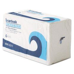 Boardwalk Office Packs Lunch Napkins, 1-Ply, 12 1/2 x 11 1/2, White, 2400/Carton