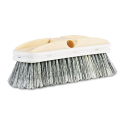 Boardwalk Polystyrene Vehicle Brush w/Vinyl Bumper, 2 1/2 in Bristles, 10 in Brush