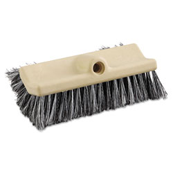 Boardwalk Dual-Surface Vehicle Brush, 10 in Long, Brown