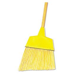 Boardwalk Angler Broom, Plastic Bristles, 53 in Wood Handle, Yellow, 12/Carton