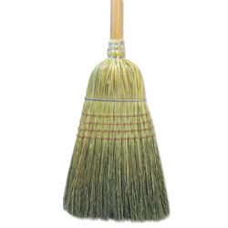 Boardwalk Warehouse Broom, Corn Fiber Bristles, 56 in Overall Length, Natural