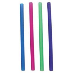 Boardwalk Unwrapped Colossal Straws, 8 1/2 in, Blue, Green, Pink, Purple, 4000/Carton