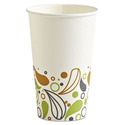 Boardwalk Deerfield Printed Paper Hot Cups, 16 oz, 20 Cups/Sleeve, 50 Sleeves/Carton