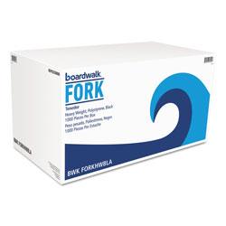Boardwalk Heavyweight Polystyrene Cutlery, Fork, Black, 1000/Carton