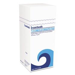Boardwalk Jumbo Straws, 7 3/4 in, Plastic, Black, Unwrapped, 250/Pack, 50 Pack/Carton
