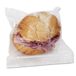 Boardwalk Reclosable Food Storage Bags, Sandwich, 1.15 mil, 6.5 in x 5.89 in, Clear, 500/Box