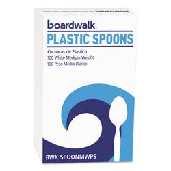 Boardwalk Mediumweight Polystyrene Cutlery, Teaspoon, White, 10 Boxes of 100/Carton