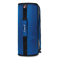 Case it™ King Size Mighty Zip Tab Binder, 3 Rings, 4 in Capacity, 11 x 8.5, Blue