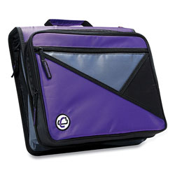 Case it™ Universal Zipper Binder, 3 Rings, 2 in Capacity, 11 x 8.5, Purple/Gray Accents