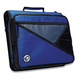 Case it™ Universal Zipper Binder, 3 Rings, 2 in Capacity, 11 x 8.5, Blue/Gray Accents
