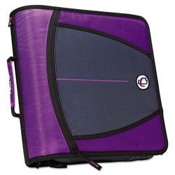 Case it™ Large Capacity Zipper Binder, 3 Rings, 3 in Capacity, 11 x 8.5, Purple