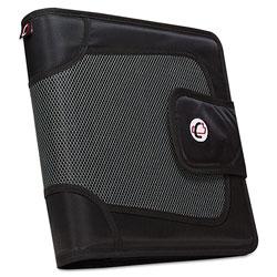 Case it™ Premium Velcro Closure Binder, 3 Rings, 2 in Capacity, 11 x 8.5, Black