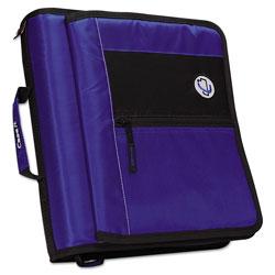 Case it™ Premium Velcro Closure Binder, 3 Rings, 2 in Capacity, 11 x 8.5, Blue
