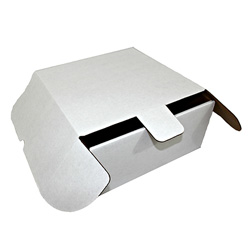 Honeymoon Paper Corrugated Cake Box, 10 1/4 inx10 1/4 inx4 in, White
