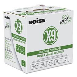 Boise X-9 SPLOX Multi-Use Paper , 92 Bright, 20 lb, 8.5 x 11, White, 2500 Sheets/Carton