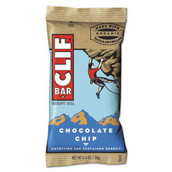 CLIF Bar Energy Bar, Chocolate Chip, 2.4 oz, 12/Box