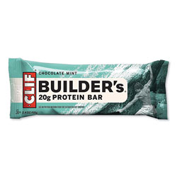 CLIF Bar Builders Protein Bar, Chocolate Mint, 2.4 oz Bar, 12 Bars/Box