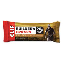 CLIF Bar Builders Protein Bar, Chocolate Peanut Butter, 2.4 oz Bar, 12 Bars/Box