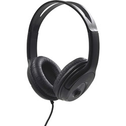 Compucessory Stereo Headset with Volume Control, Black/Red