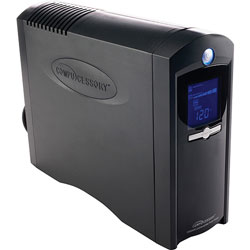 Compucessory 25650 UPS Power System,750 Watts,8 Outlets,LCD Panel,Silver
