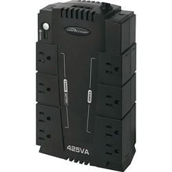 Compucessory 25654 UPS Backup System,230 Watts,6 Transformer Outlets,Black