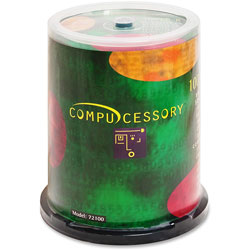 Compucessory CD R, Spindle, Branded, 80 Min/700MB, 48X, 100 Pack
