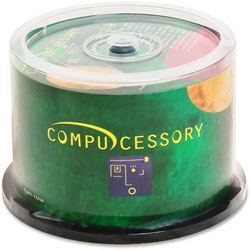 Compucessory CD R, Spindle, Branded, 80 Min/700MB, 48X, 50 Pack