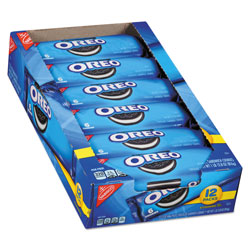 Nabisco Oreo Cookies Single Serve Packs, Chocolate, 2.4 oz Pack, 6 Cookies/Pack, 12 Packs/Box