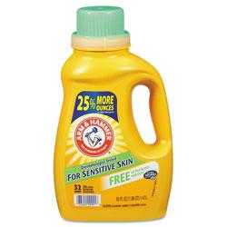 Arm & Hammer® HE Compatible Liquid Detergent, Unscented, 50oz Bottle, 8/Carton