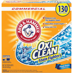 Arm & Hammer® Power of OxiClean Powder Detergent, Fresh, 9.92lb Box, 3/Carton
