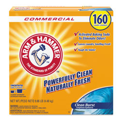 Arm & Hammer® Powder Laundry Detergent, Clean Burst, 9.86 lb, Box, 3/Carton