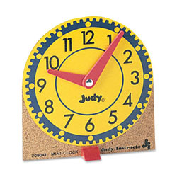 Carson Dellosa 0768223202 Mini Judy Clock Mounted on Wooden Base