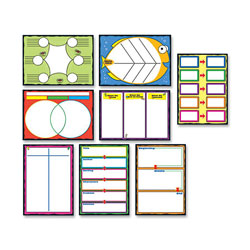 Carson Dellosa Bulletin Board Set, Graphic Organizer, 17 in x 24 in, 8/PK, Multi