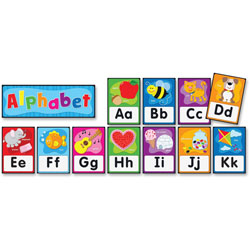 Carson Dellosa Quick Stick Alphabet Bulletin Board Set, 26 pieces, Grades PK-2