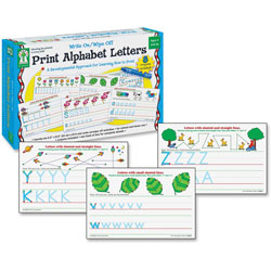 Carson Dellosa Write-On/Wipe-Off Print Alphabet Letters Activity Set, Ages 4 and Up