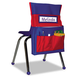 Carson Dellosa Chairback Buddy Pocket Chart, 15 x 19, Blue/Red