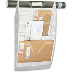 CEP Wall Display Rack, 5-Part, 4-4/5 in x 13 in x 22 in, White