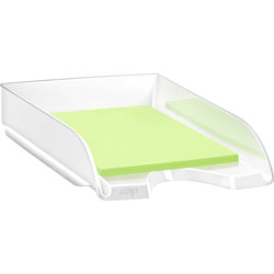 CEP Letter Tray, Stackable, 10-1/10 inWx13-7/10 inLx2-3/5 inL, White
